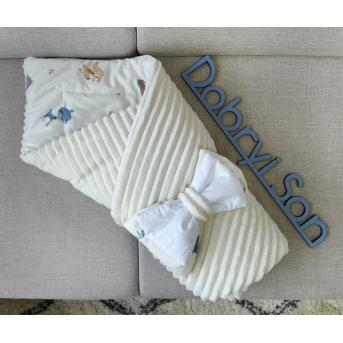 Конверт-одеяло Сатин+плюш Stripes Лесные животные Добрый Сон