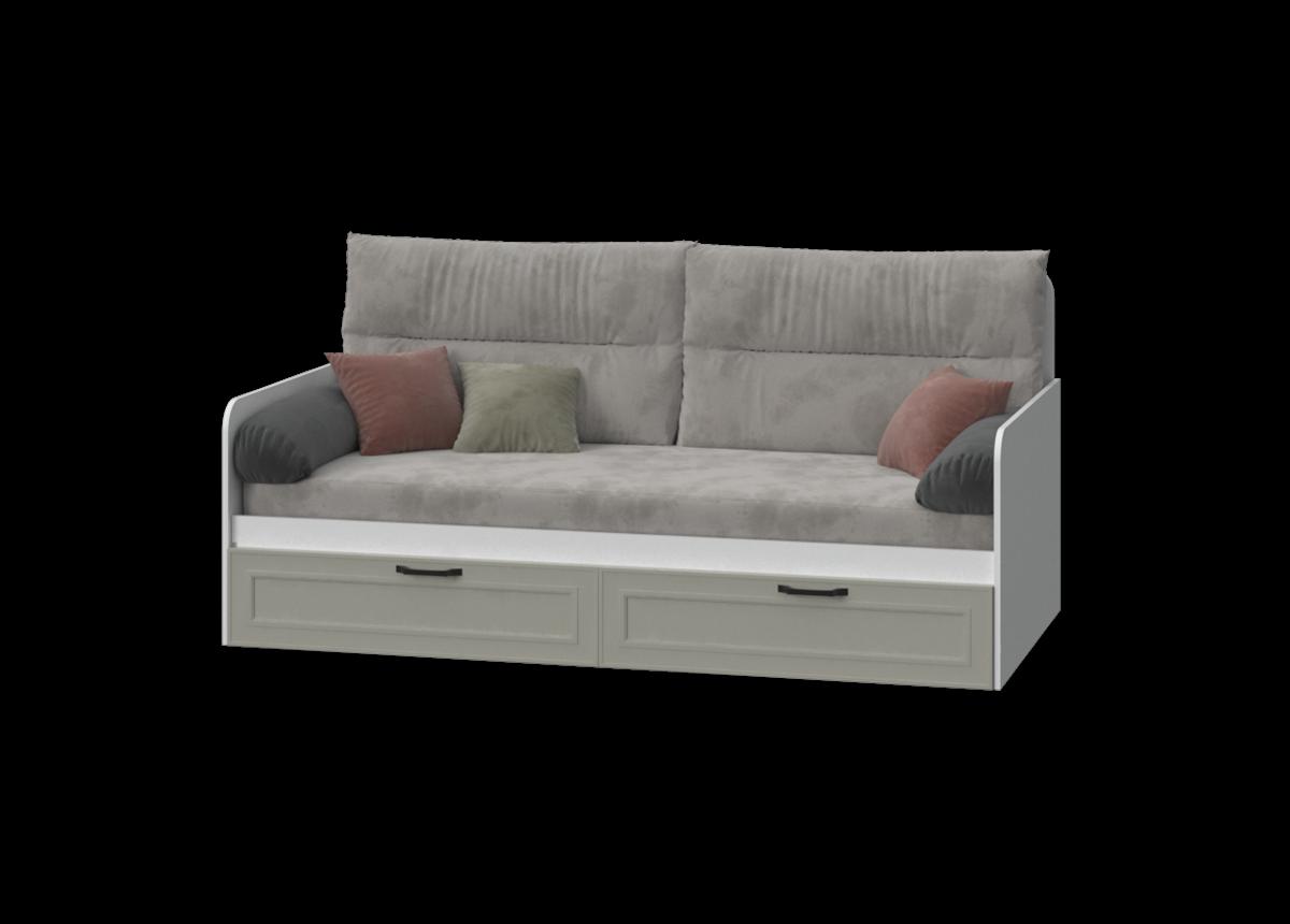 Кровать-диванчик с мягкой частью FR-L-010 Frame Эдисан