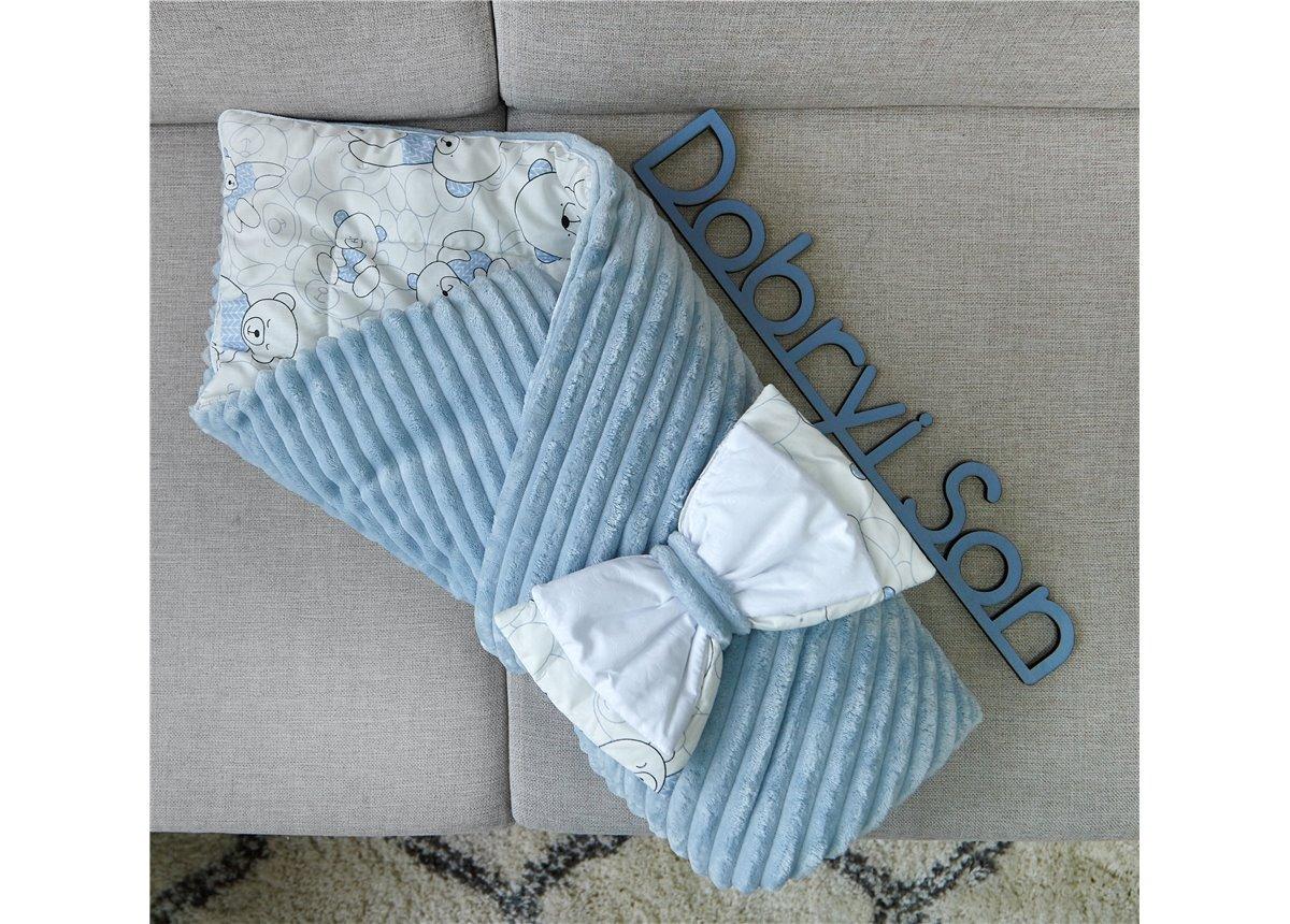 Конверт-одеяло Сатин+плюш Stripes Мишки Добрый Сон