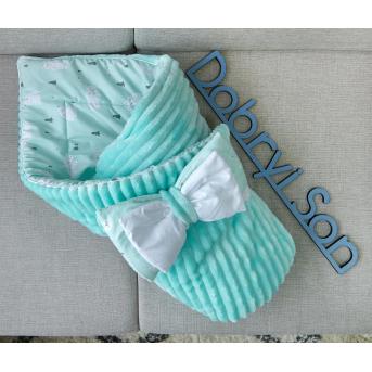 Конверт-одеяло Сатин+плюш Stripes Белые медведи Добрый Сон