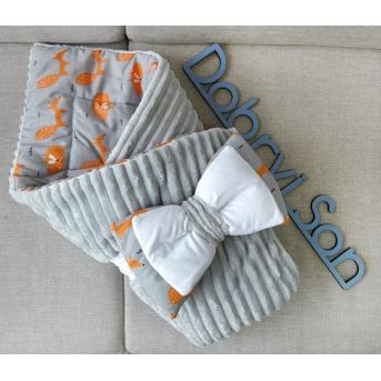 Конверт-одеяло Сатин+плюш Stripes Лисички Добрый Сон