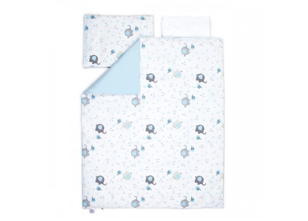 Сменный постельный комплект Veres Elephant Family Голубой (3 предмета)