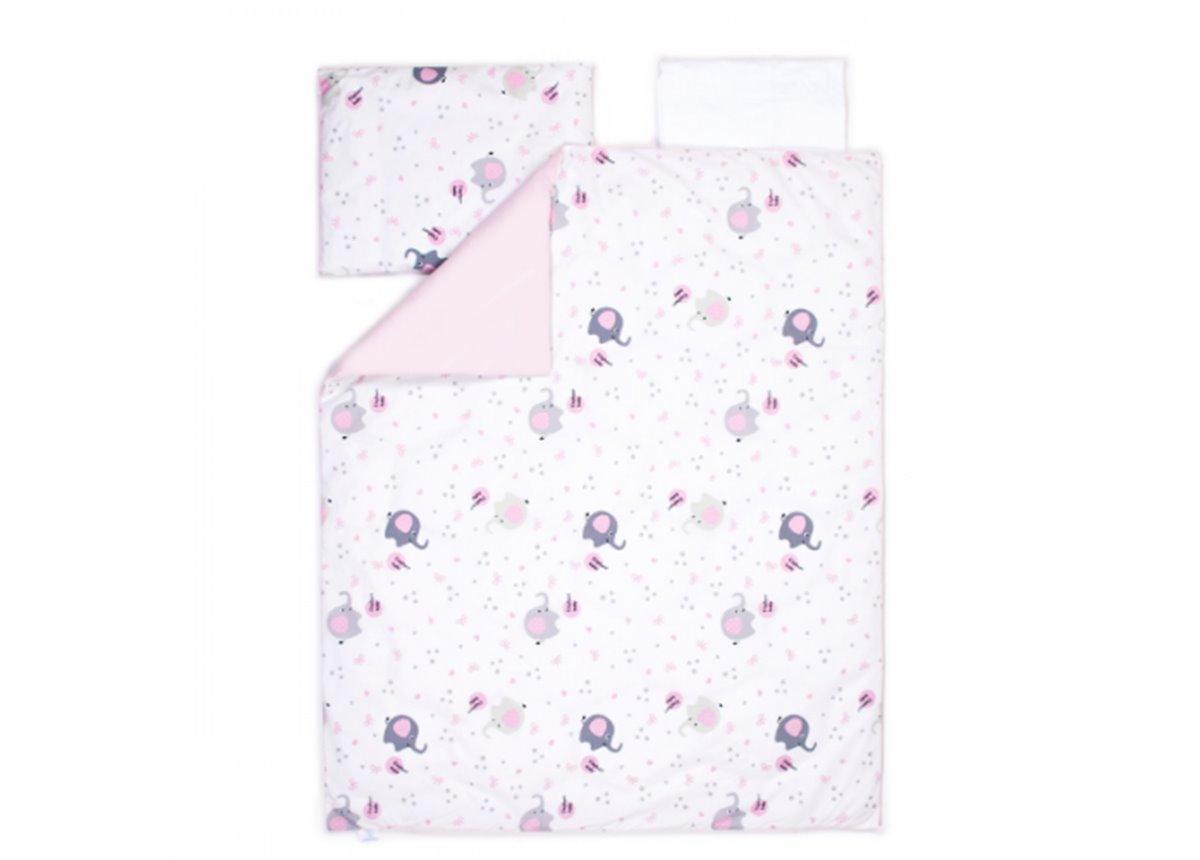 Сменный постельный комплект Veres Elephant Family Розовый (3 предмета)