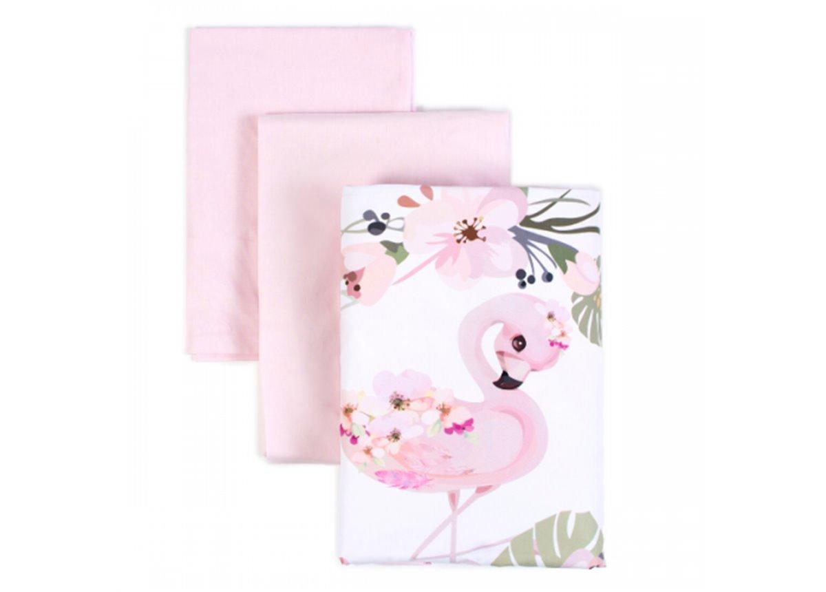 Сменный постельный комплект Veres Flamingo Розовый (3 предмета)