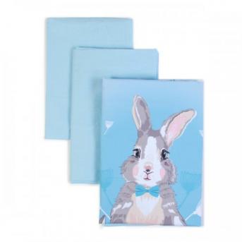 Сменный постельный комплект Veres Summer Bunny голубой (3 предмета)