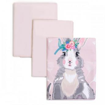 Сменный постельный комплект Veres Summer Bunny розовый (3 предмета)
