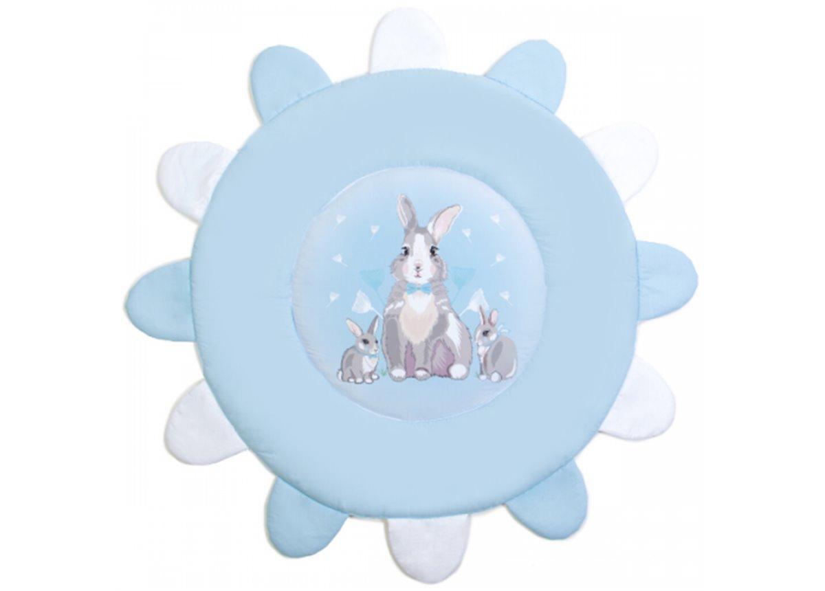 Коврик игровой Summer Bunny голубой 92х92 Veres