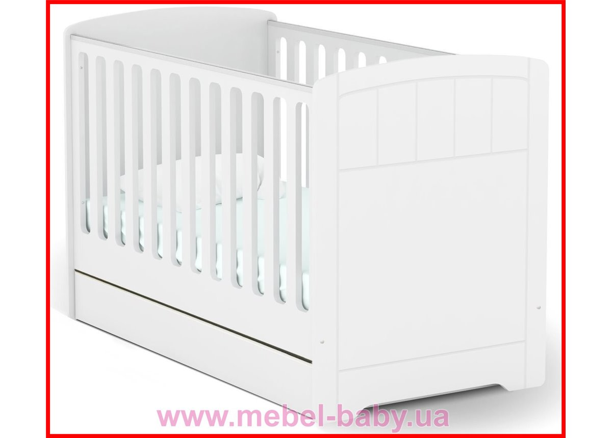 Распродажа Не качающаяся кроватка для новорожденных Baby Серия Nordic с подкроватным ящиком Baby