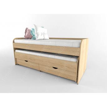 Двухьярусная кровать низкая НИТ 80x190 Fmebel
