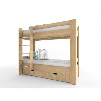 Двухьярусная кровать лестница спереди НИТ 70x190 Fmebel