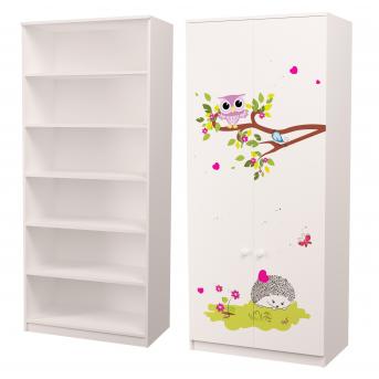 Шкаф для белья Совушки 211x80x50 MebelKon
