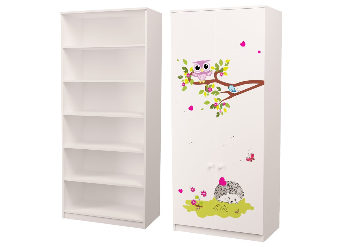 Шкаф для белья Совушки 211x90x50 MebelKon