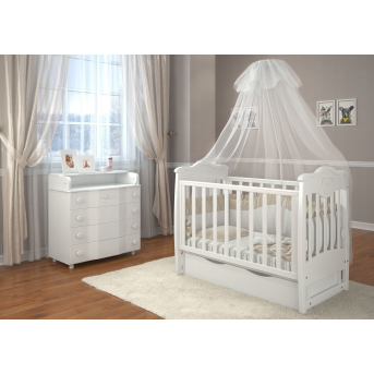Кроватка детская LUX5 мишка стразы Angelo 60x120