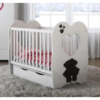 Кроватка детская LUX3 МДФ оргстекло Angelo 60x120