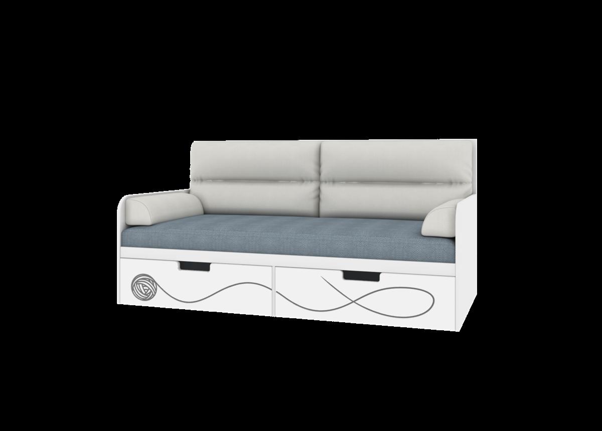 Кровать-диванчик с мягкой частью KS-L-010 Cats Эдисан