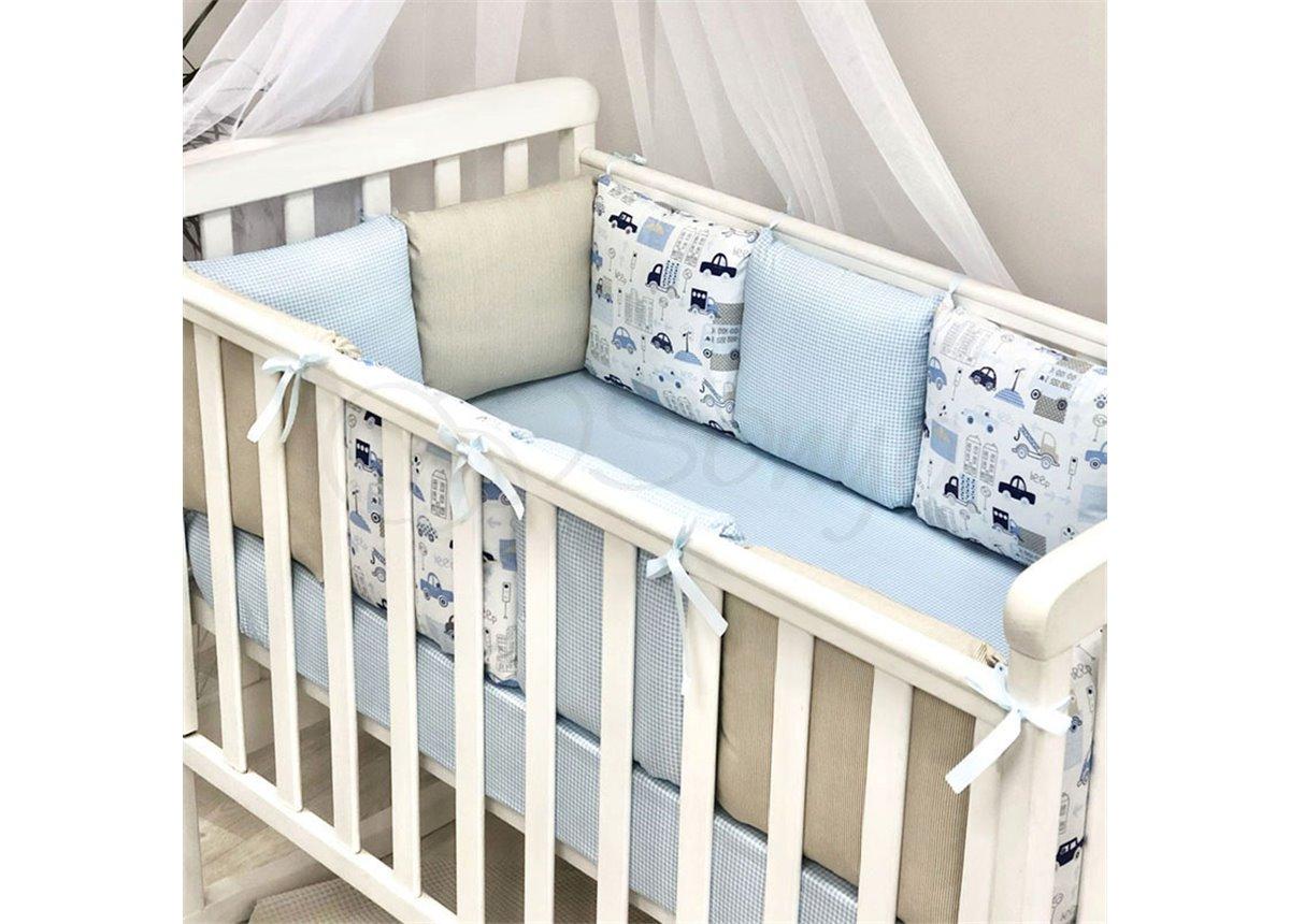 Бортики Baby Design City 12 подушек + простынь Маленькая Соня