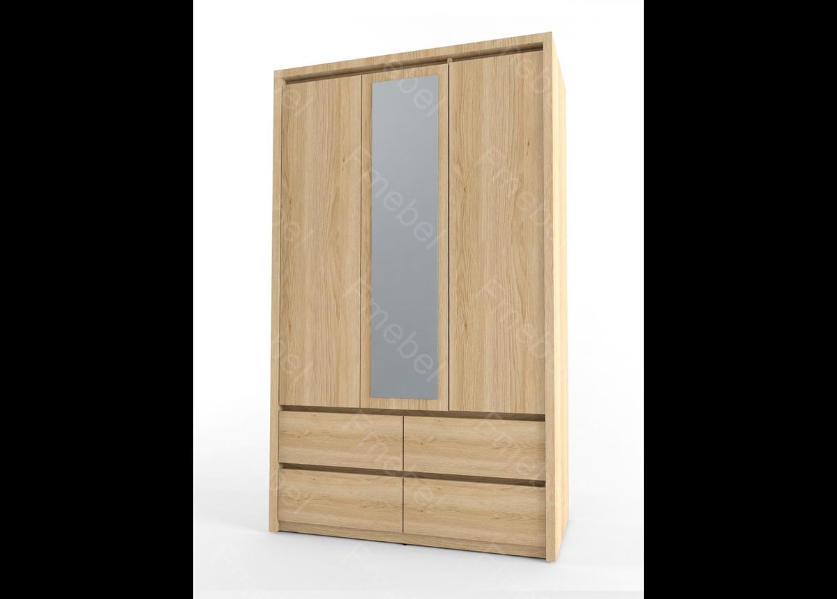 Шкаф трехдверный с зеркалом NOT Fmebel