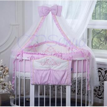 Набор постельного белья Mon Amie (7 предметов) розовый Маленькая Соня