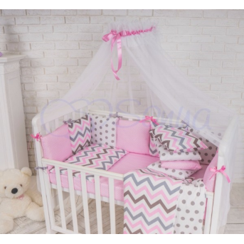 Балдахин Baby Design белый с розовым Маленькая Соня