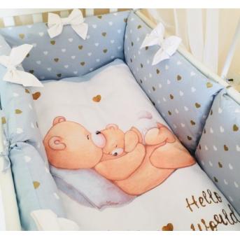 Комплект Happy Baby мальчик голубой (7 предметов) Маленькая Соня