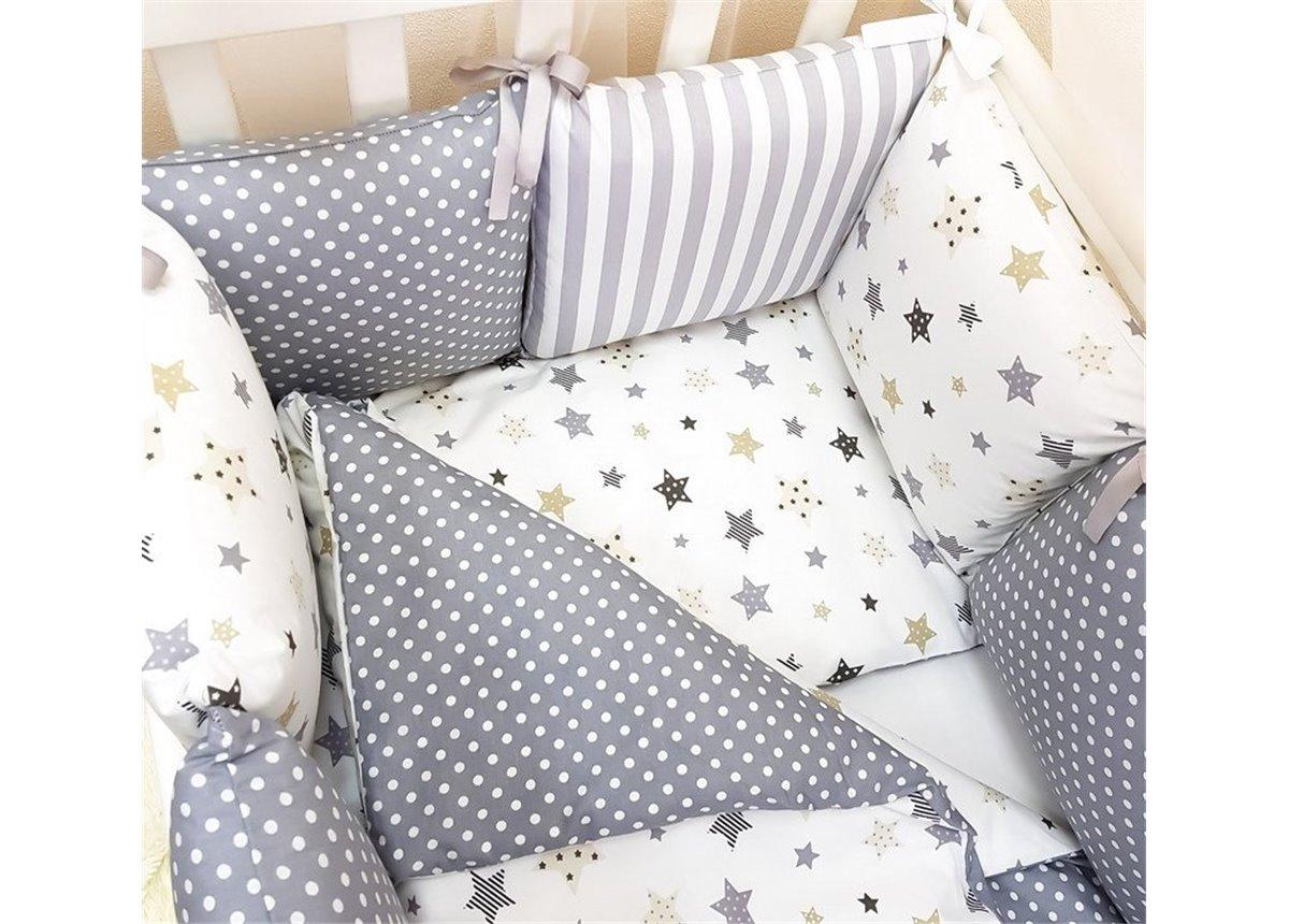 Комплект Baby Design Stars серый (6 предметов) Маленькая Соня