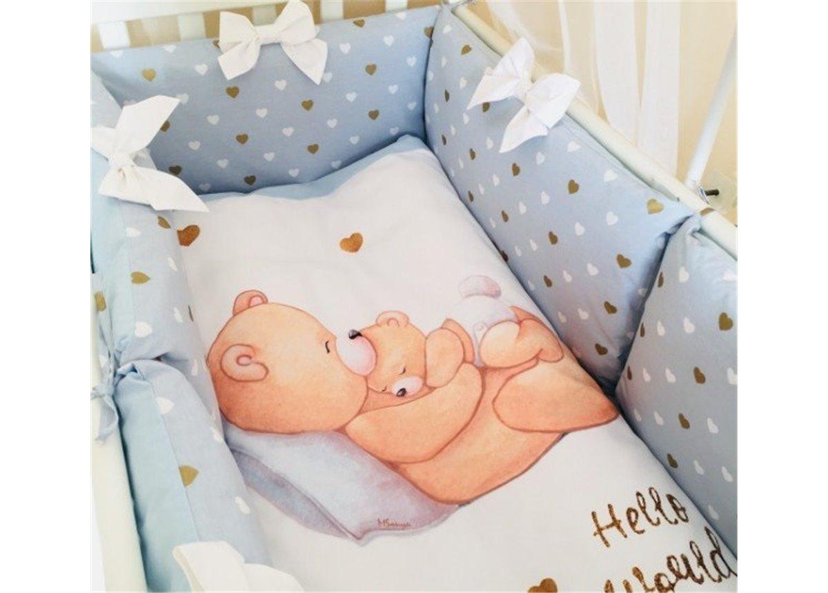 Комплект Happy Baby мальчик голубой (6 предметов) Маленькая Соня