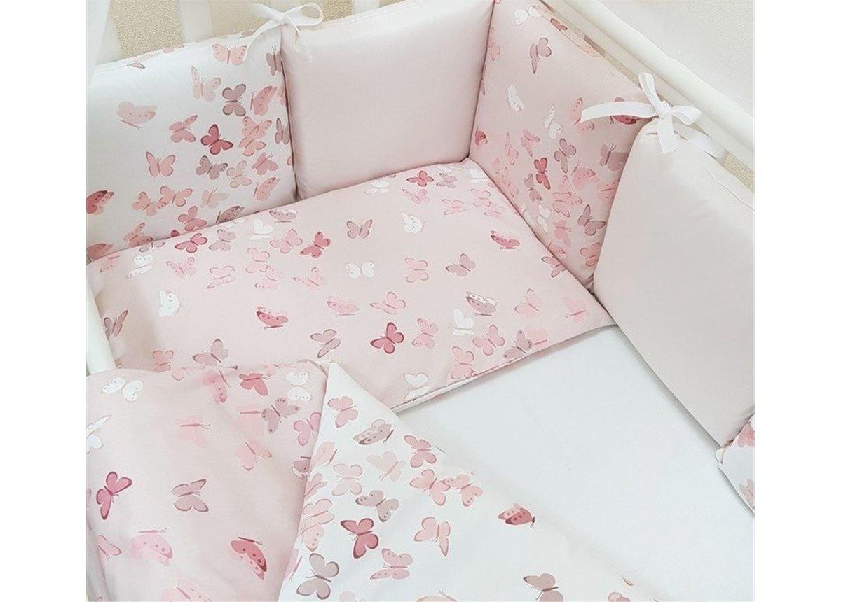 Сменный комплект постельного белья Baby Design Бабочки Маленькая Соня розовый