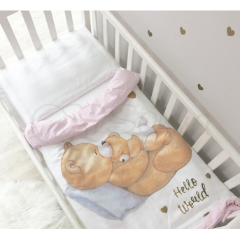Сменный комплект постельного белья Happy Baby Маленькая Соня розовый
