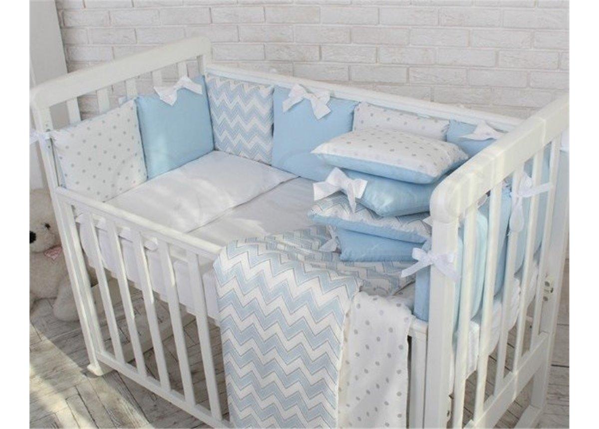 Сменный комплект постельного белья Shine зигзаг Маленькая Соня голубой