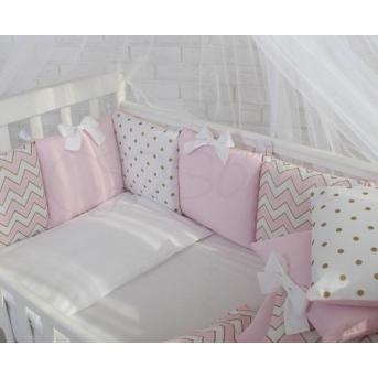 Сменный комплект постельного белья Shine зигзаг Маленькая Соня розовый