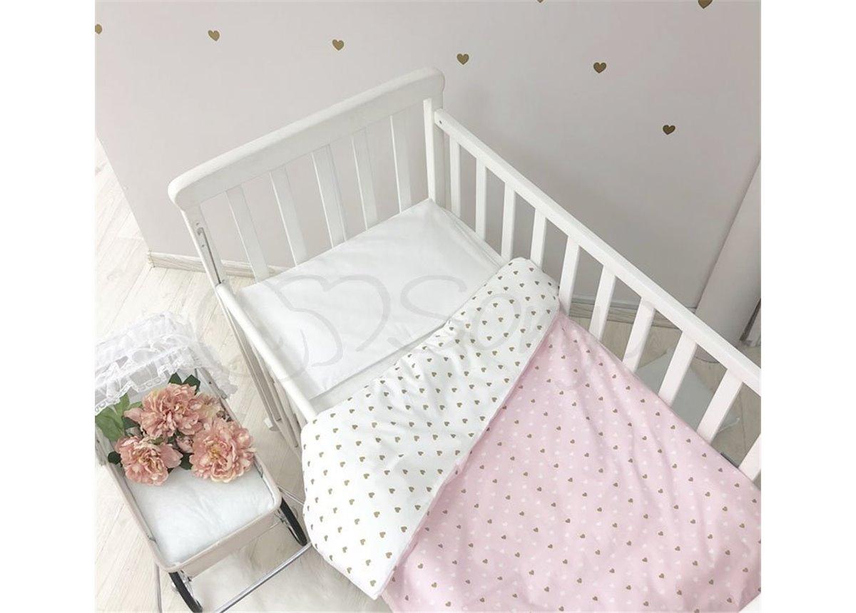 Сменный комплект постельного белья Shine сердечко Маленькая Соня розовый
