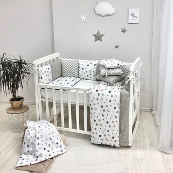 Комплект Baby Design Stars серо-бежевый (6 предметов) Маленькая Соня