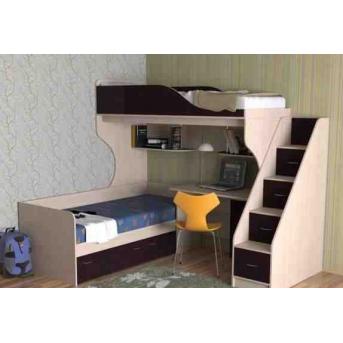 Кровать-чердак со столом 1-1 80x190 (101)