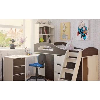 Кровать-чердак со столом 2-2 80x170 (101)