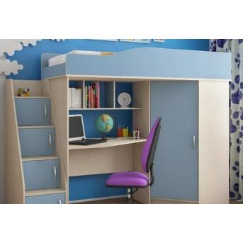 Кровать-чердак со столом 4-2 80x190 (101)