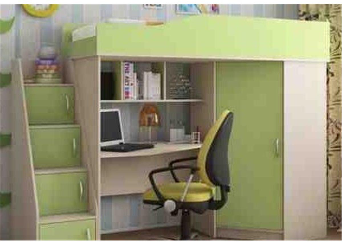 Кровать-чердак со столом 4-3 80x190 (101)