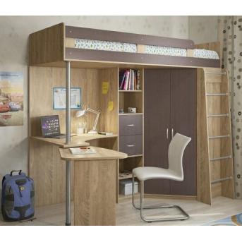 Кровать-чердак со столом 10-2 80x190 (101)