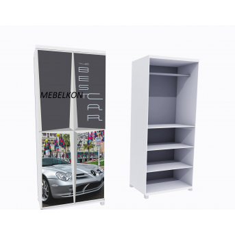 Шкаф А2 Mercedes серый фасады ДСП 190x80x50 MebelKon