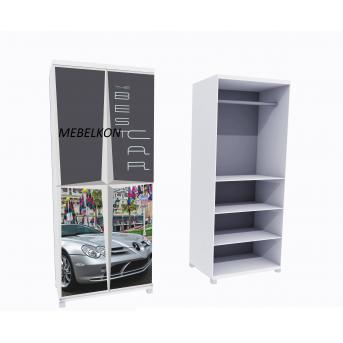 Шкаф А2 Mercedes серый фасады МДФ Глянец 190x80x50 MebelKon