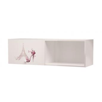 Полка на две секции одна закрытая Париж MebelKon 35x130x37