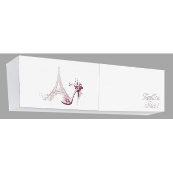 Полка на две секции, обе закрытые Париж MebelKon 37х120х35