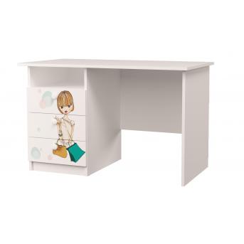 Стол с тремя ящиками Гламур