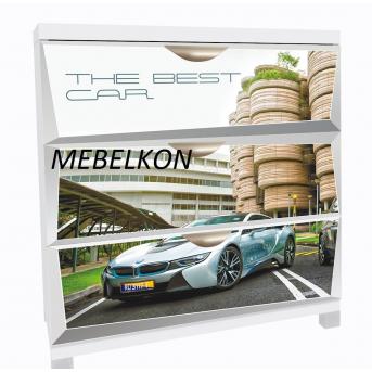 Комод А1 BMW Space белый фасады МДФ Глянец 90x80x50 MebelKon