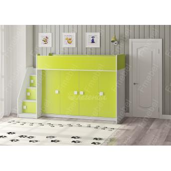 Кровать-чердак Легенда-4 Дизайн сервис 75х175
