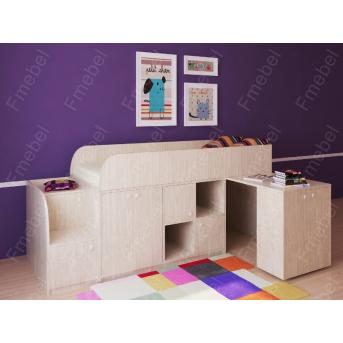 Кровать-чердак Астра мини Fmebel 80х190