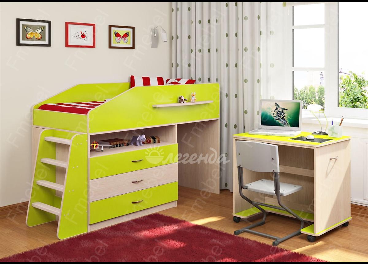 Кровать-чердак Легенда-12.1 Fmebel 80х160