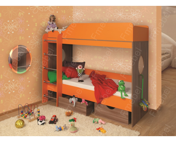 Двухъярусная кровать Берлин Fmebel 80х200