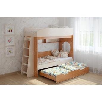 Двухъярусная кровать с дополнительным спальным местом Дублин Fmebel