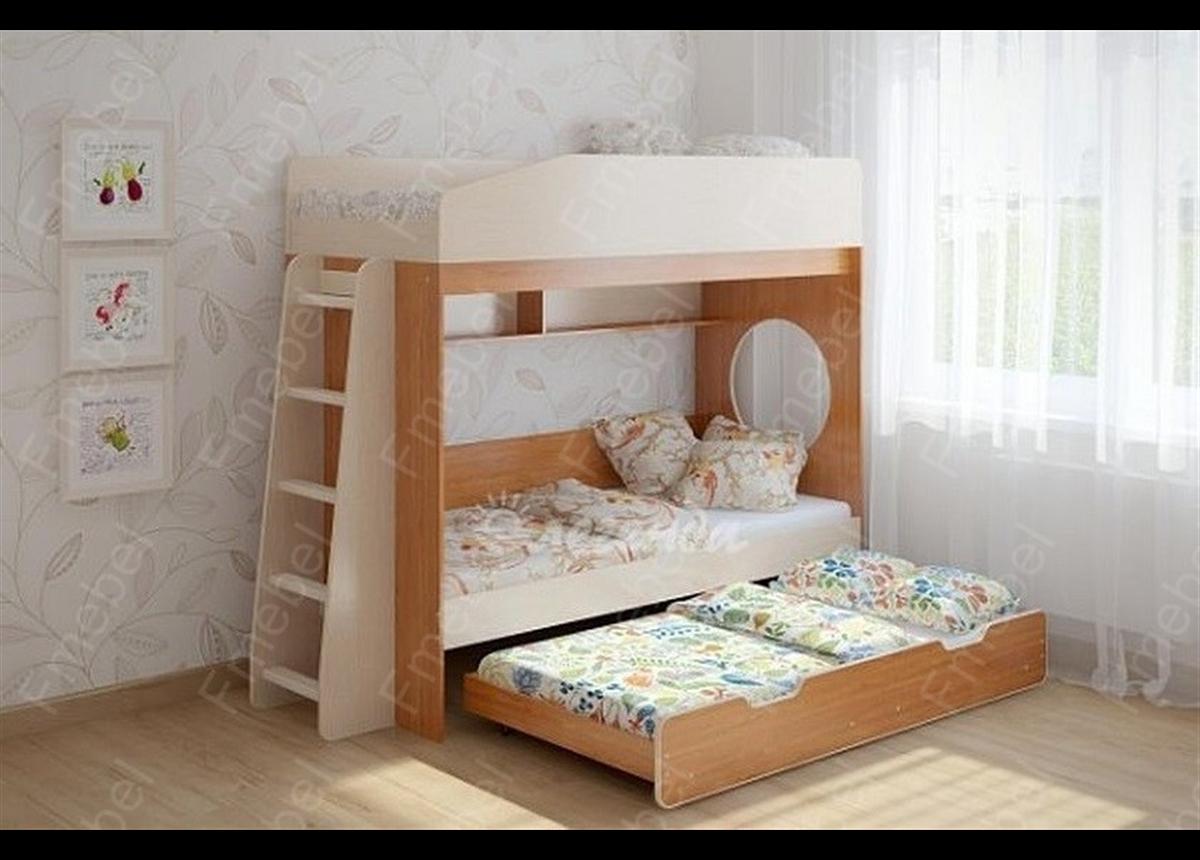 Двухъярусная кровать с дополнительным спальным местом КЧТ 102 Fmebel