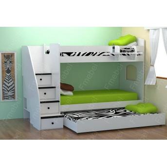Двухъярусная кровать с дополнительным спальным местом Цюрих Fmebel